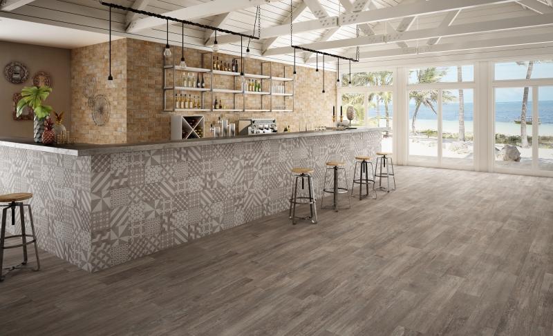 Wood Look Tile Plank Room Scene