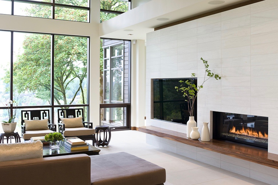 Limestone Fire Place