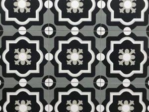 Patch Work Black & White 04 Pattern Tile
